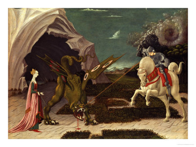 St. George and the Dragon, circa 1470 reproduction procédé giclée