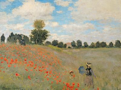 Wild Poppies, Near Argenteuil (Les Coquelicots: Environs D'Argenteuil), 1873 Premium Giclee Print by Claude Monet