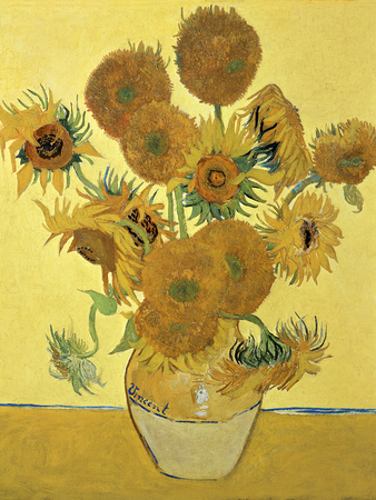 Vase of Fifteen Sunflowers, c.1888 Premium Giclee Print by Vincent van Gogh