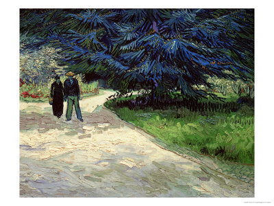 Couple in the Park, Arles, c.1888 Giclee Print