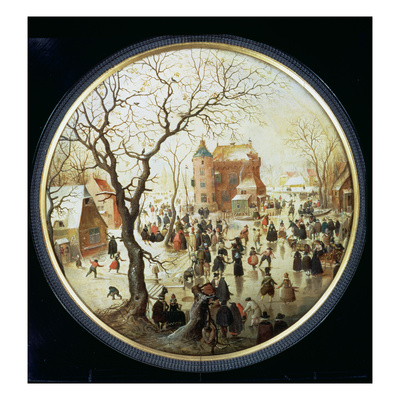 Winter Scene with Skaters Near a Castle, C.1608-09 (Oil on Panel) Giclee Print by Hendrik Avercamp