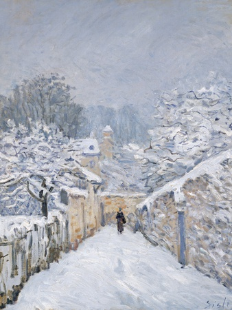 Snow at Louveciennes, 1878 Premium Giclee Print by Alfred Sisley