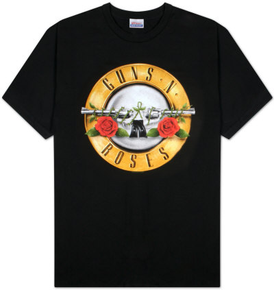 Guns N Roses - Bullet Logo T-Shirt