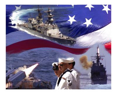 Go Navy Collage Photographic