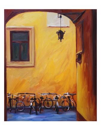 Bicycles II Premium Giclee Print by Pam Ingalls