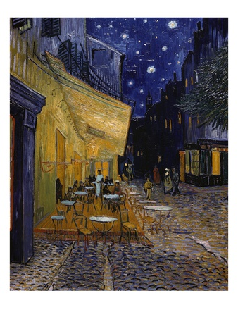 Cafe Terrace at Night Giclée-tryk
