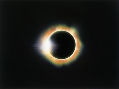 Eclipse with a Diamond Ring Effect Photographic Print by Roger Ressmeyer