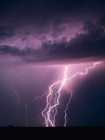 Lightning Bolts Photographic Print by Warren Faidley