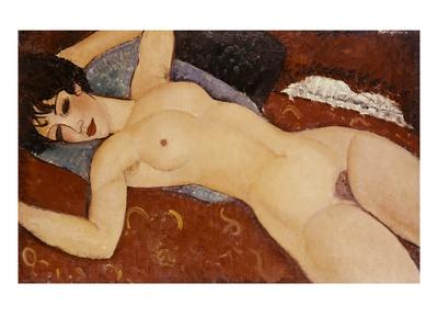 Reclining Nude Stampa giclée di Amedeo Modigliani