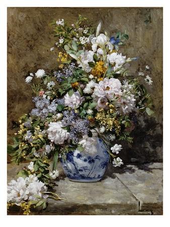 Spring Bouquet Gicléetryck av Pierre-Auguste Renoir