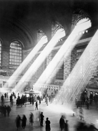 Sunbeams in Grand Central Station Fotografisk tryk