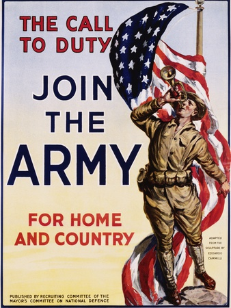 The Call to Duty for Home and Country Poster Photographic Print