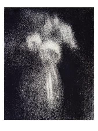 Vase de Fleurs Premium Giclee Print by Georges Seurat