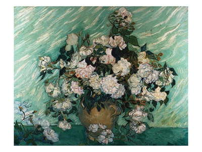 Roses Premium Giclee Print by Vincent van Gogh
