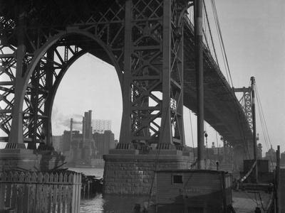 Williamsburg Bridge Spanning East River Photographic Print by Philip Gendreau