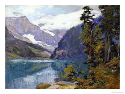 Lake Louise, British Columbia Premium Giclee Print by Edward Henry Potthast