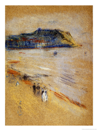 On the Beach, Hastings Premium Giclee Print by James Abbott McNeill Whistler