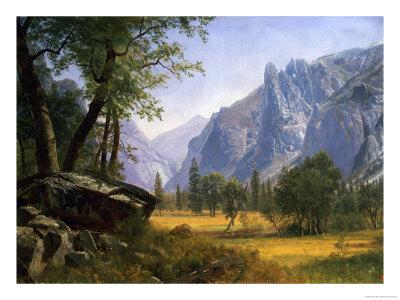 Yosemite Valley Premium Giclee Print by Albert Bierstadt