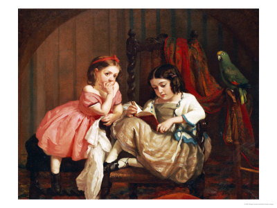 An Enchanting Tale, 1861 Premium Giclee Print by George Cochran Lambdin