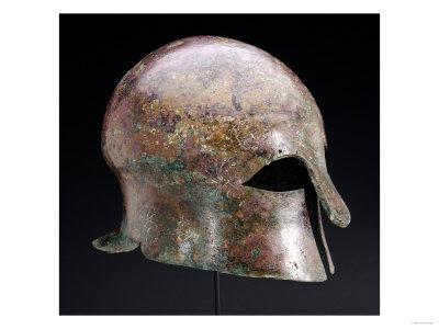 A Greek Bronze Corinthian Helmet, circa Late 6th Century BC Premium Giclee Print