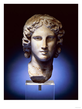 A Marble Head of a Young Man, Possibly Apollo, 2nd Century After 4th Century BC Premium Giclee Print