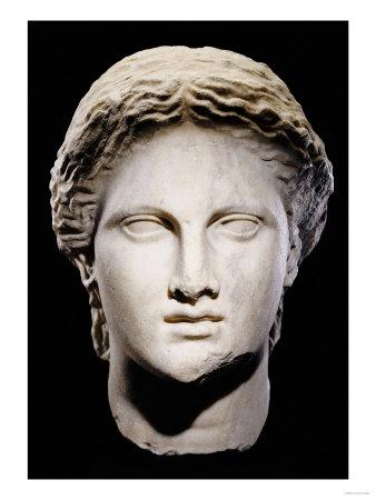 A Greek Marble Female Head, Classical Period, circa Mid 4th Century Premium Giclee Print