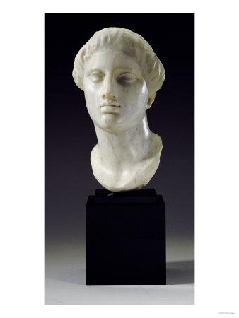 Greek Marble Head of a Woman, Tarentine, circa 4th-3rd Century BC Giclee Print