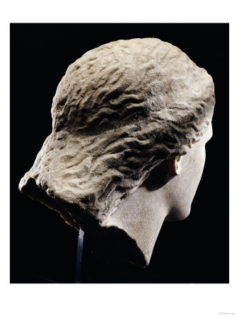 A Greek Marble Female Head from Behind, Classical Period, circa Mid 4th Century Giclee Print