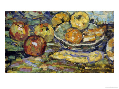 Still Life with Apples and a Bowl Premium Giclee Print by Maurice Brazil Prendergast