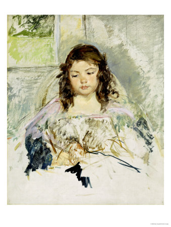 Sketch for Francois in a Round-Backed Chair, Reading Premium Giclee Print by Mary Cassatt