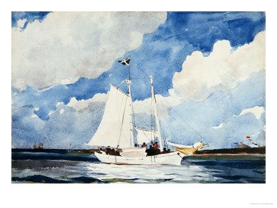 Fishing Schooner, Nassau Premium Giclee Print by Winslow Homer