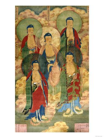 A Very Rare Buddhist Votive Painting, Dated Wanli 19th Year Premium Giclee Print