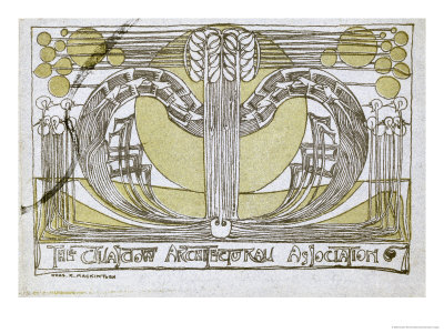 Conversazione Programme, Designed for the Glasgow Architectural Association, 1894 Giclee Print by Charles Rennie Mackintosh