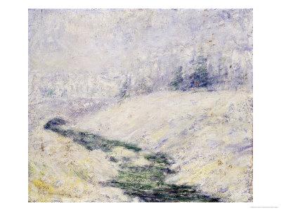 Winter Scene Premium Giclee Print by John Henry Twachtman