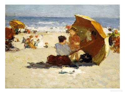 Late Afternoon, Coney Island Premium Giclee Print by Edward Henry Potthast