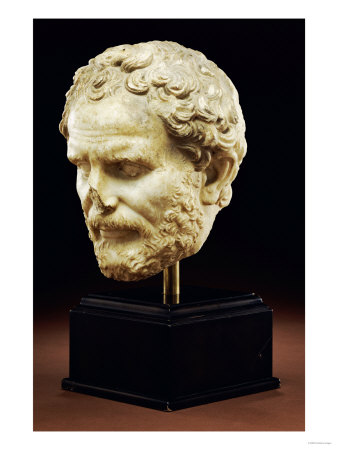 Roman Marble Portrait of Demos- Thenes, Early Imperial, circa 1st Century AD Giclee Print