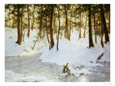 Ice in the Glen, 1908 Premium Giclee Print by Walter Launt Palmer
