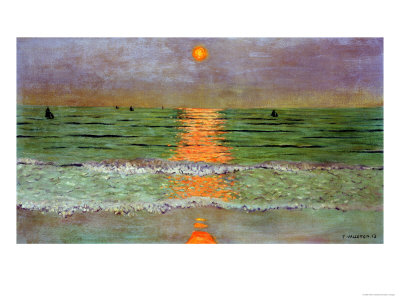 Sunset, 1913 Premium Giclee Print by Félix Vallotton