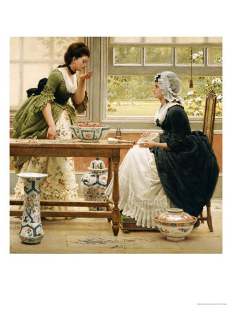 Pot-Pourri, circa 1874 Premium Giclee Print by George Dunlop Leslie