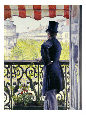 Man on a Balcony, Boulevard Haussmann, 1880 Premium Giclee Print by Gustave Caillebotte