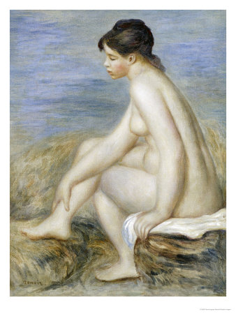 A Seated Bather Giclee Print by Pierre-Auguste Renoir