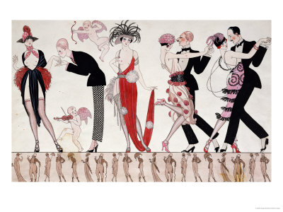 The Tango Premium Giclee Print by Georges Barbier