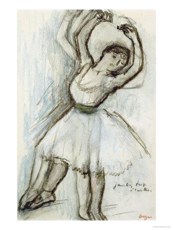 Study of a Dancer Premium Giclee Print by Edgar Degas