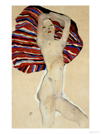 Act Against Coloured Material, 1911 Giclee Print by Egon Schiele