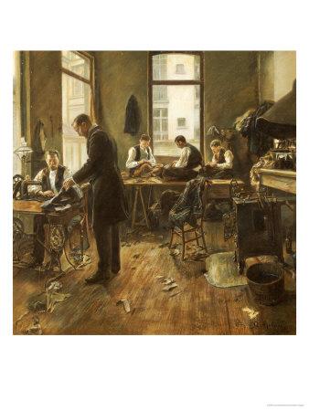 The Tailors Premium Giclee Print by Leon Bartholomee
