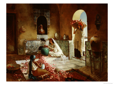 Gathering of Roses Giclee Print by Rudolph Ernst