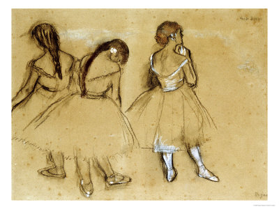 Three Dancers Art Print