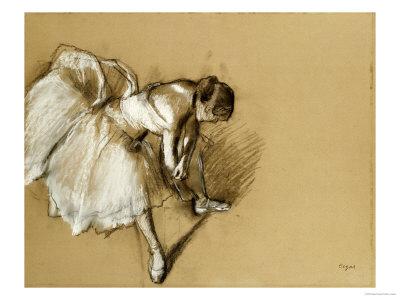 Tancerka poprawiająca but, ok. 1890 Reprodukcja