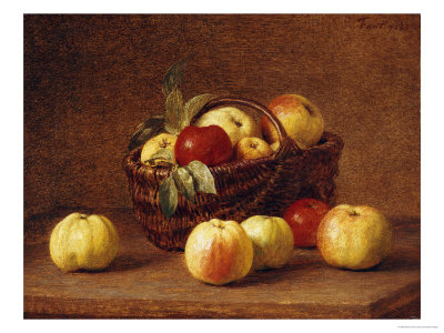 Apples in a Basket on a Table Premium Giclee Print by Henri Fantin-Latour
