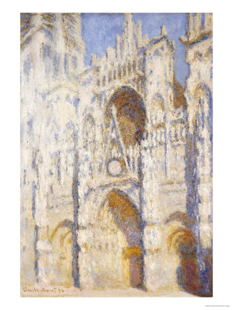 Rouen Cathedral in the Afternoon (The Gate in Full Sun), 1892-94 Premium Giclee Print by Claude Monet